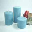 Azul velas perfumadas pilar - Juego de 3 Piezas