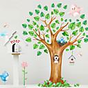 Árbol perros Aves de pared desmontable etiqueta del vinilo pegatinas de pared