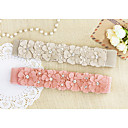Womens Flower Beads Elastic Sweet Belt