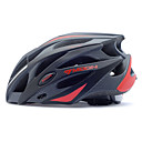 LUNA Ciclismo Negro y Rojo PC / EPS 21 Protective Vents Ride Casco