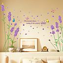 Arte púrpura de la lavanda Vinilo removible etiqueta de la pared Decal