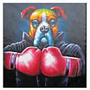 Lucha de pintado a mano la pintura al óleo animal Let
