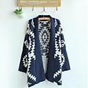 Womens New  Geometric Pattern Cardigan Sweater Wool Sweater Cardigan Outwear