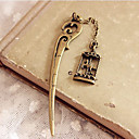 Hairpin Shaped Bronze Bookmark with Merry-go-round Pendant