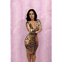 Womens Sexy Bind Printed Dress