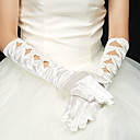 Spandex Satin Fingertips Elbow Length Wedding/Party Glove(More Colors)