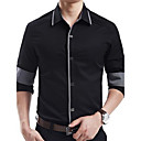 Mens Slim Cotton Long Sleeve Shirt