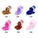 1PCS Hexagonal Glitter Tabletas Decoración de uñas NO.19-24 (varios colores)