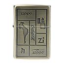 Zippo Copper Plating Checkering Metal Windproof Oil Lighter