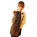 18 Inch cinta atada Light Brown Corn-estigma sintético estilo Curly Ponytail Hair Extensions