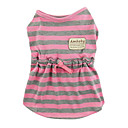 AMBABY Stripes Pattern Dress for Pets Dogs (Assorted Colors,Sizes)