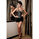 Womens Sexy Rivets Strapless Bandeau Corset With G-Strings