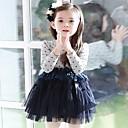 Girls Mesh Splicing Princess Dress