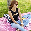 Womens Sexy Cut Out Low Neckline 100% Cotton T-shirt