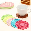 jjj-k1064-fresh-flowers-candy-colored-thick-silicone-coaster-round-multi-sided-heat-pad