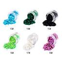 1PCS Hexagonal Glitter Tabletas Decoración de uñas No.13-18 (varios colores)
