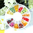 144PCS 12-Color Polymer Fruit Slice Nail Art Decoration