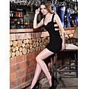 Womens Sexy V Collar Bodycon Dress