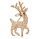 Meet You Deer en forma de 18 quilates chapado en oro rosa Broche con incrustaciones de diamantes de imitación austriaco