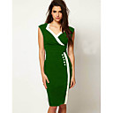 SZ Womens Green White Margin Dress