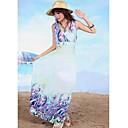 TS- Bohemia V Neck Print  Beach Maxi Dress (Random Prints)