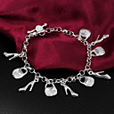 High Quality Stylish Silver Silver-Plated With High Heels And Bags Charm Bracelets