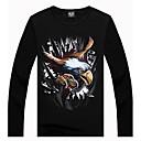3D Condor Tierra Imprimir Fleece Hombre Forrado T-shirt