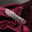 High Quality European Silver Silver-Plated Pieced Pattern Cuffed Bracelets