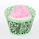 Leaves Laser Cut Cupcake Wrapper - Set of 24 (More Colors)