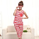 Womens Cute Red-white Stripes Home Lounge Wear