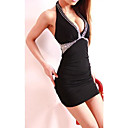 Womens Club Sexy Tight Package Buttocks Beading  Dress