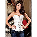 Womens Court Style Jacquard Weave Sexy Strapless Corset With G-Strings