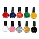 10PCS Mixed-Color Stamping Nail Polish Art Printing Kits (12 ml)