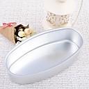 Aluminio Ellipse Cake Mould utensilios para hornear Set de 1 pieza, 21.5x10x6cm