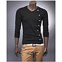 Mens V Neck Long Sleeve T-Shirt