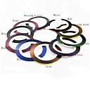 11PCS 11-Colors trazado de líneas de cinta decoración del clavo etiqueta engomada del arte