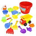 17 piezas de colores Varios tipos Playa conjunto de juguete