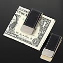 Money Clip de metal personalizadas de los hombres de regalo Negro Cuero de la PU (a menos de 30 caracteres)
