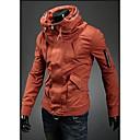Mens Solid Color Zipper Decoration Jacket
