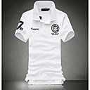 Mens Short Sleeve Polo , Cotton Casual Pure/Print