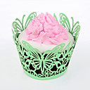 Butterfly Theme Cupcake Wrappers - Set of 24 (More Colors)