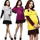 2014 Nueva Moda de Primavera y Otoño Ropa Maternal Enfermería vestido de mangas largas