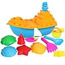 12 piezas de gran tamaño policromada Arena Barco conjunto de juguete