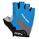 FJQXZ Unisex Shockproof Short Finger Blue Cycling Gloves