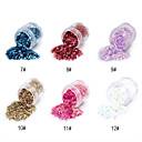 1PCS Hexagonal Glitter Tabletas Decoración de uñas No.7-12 (varios colores)