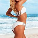 De las mujeres atractivas IKINI Cinco Cuerdas Push Up Bikini (Blanco)