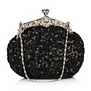 Womens Retro Paillette Pearl Embroidery Evening Bag