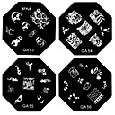1PCS Nail Art Stamp Stamping Image Template Plate QA Series NO.9-56(Assorted Pattern)
