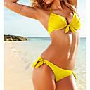 Empuje atractiva de las mujeres IKINI Up Moulding Bikini (Amarillo)