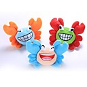 Lovely Ultra Plush Crab Family Toy with Loud Squeaker  for Dogs and Cats (Assorted Colors)